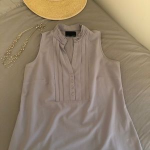 Gray Medium Cynthia Rowley Sleeveless Blouse